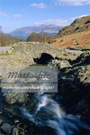 Ashness Bridge, Borrowdale, Lake District National Park, Cumbria, England, UK
