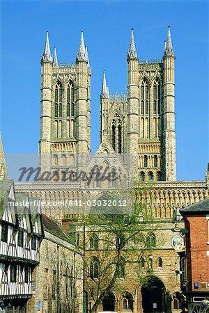 Cathédrale de Lincoln, Lincoln, Lincolnshire, Angleterre, Royaume-Uni, Europe