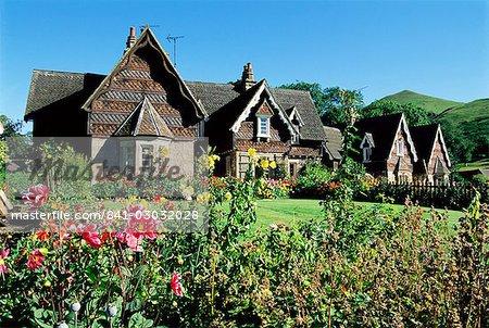 Maisons traditionnelles, Ilam, Derbyshire, Parc National de Peak District, Angleterre, Royaume-Uni, Europe