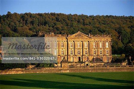 Chatsworth, in der Nähe von Bakewell, Peak-District-Nationalpark, Derbyshire, England, Vereinigtes Königreich, Europa