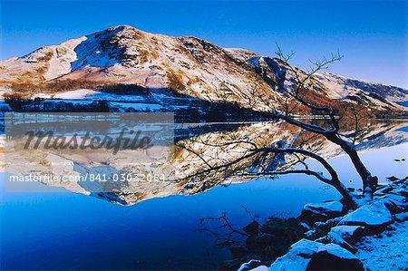 Buttermere hiver, Lake District, Cumbria, Angleterre, Royaume-Uni