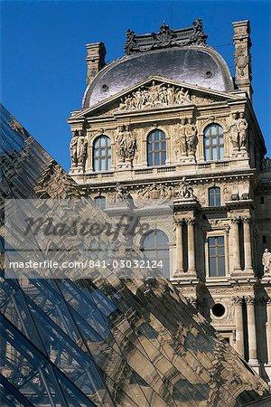 La Pyramide and Musee du Louvre, Paris, France, Europe