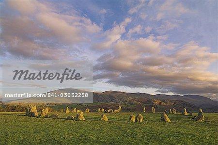 Castlerigg stone circle near Keswick, Lake District, Cumbria, England, United Kingdom, Europe