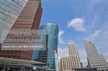 New modern buildings in Potsdamer Platz near the Bahnhof (railway station), Berlin, Germany, Europe