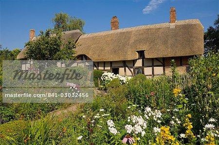 Le jardin de curé à la chaumière de Anne Hathaway, femme de la maison de Shakespeare, Shottery près de Stratford-upon-Avon, Warwickshire, Angleterre, Royaume-Uni, Europe