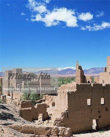 Kasbah, vallée du Dadès et montagnes de l'Atlas, Maroc, Afrique du Nord, Afrique