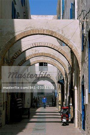 Rue de la Medina, Essaouira, Maroc, l'Afrique du Nord, Afrique