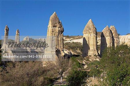 Vallée de Göreme, Cappadoce centrale, Anatolie, Turquie, Asie mineure, Asie