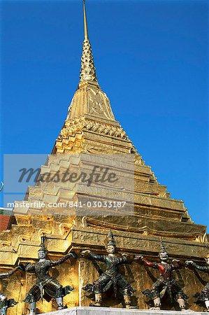 Wat Phra Kaeo, Grand Palais, Bangkok, Thaïlande, Asie du sud-est, Asie