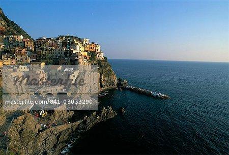 Village of Manarola, Cinque Terre, UNESCO World Heritage Site, Liguria, Italy, Mediterranean, Europe