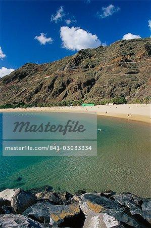 Playa de Las Teresitas, Santa Cruz De Tenerife, Teneriffa, Kanarische Inseln, Spanien, Atlantik, Europa