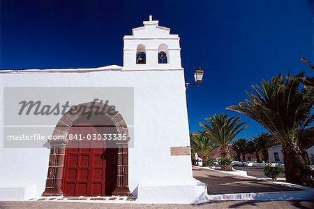 Église, Yaiza, Lanzarote, îles Canaries, Espagne, Méditerranée, Europe