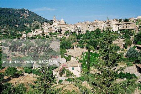Village de Valldemossa, Majorque, îles Baléares, Espagne, Méditerranée, Europe