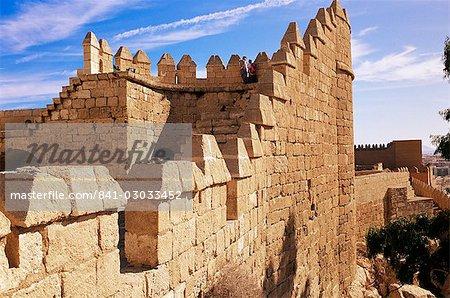 Tower (Tercer Recinto), Alcazaba, Almeria, Andalucia, Spain, Europe