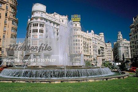Plaza del Ayuntamento, main square in the centre of the city, Valencia, Spain, Europe
