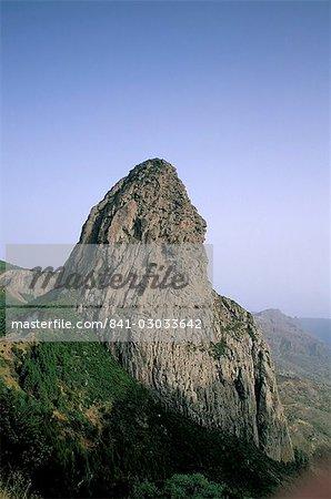 Roque de Agando, La Gomera, Canary Islands, Spain, Atlantic, Europe