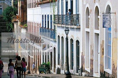 Maisons vieux colonial, Sao Luis, patrimoine mondial UNESCO, Maranhao (Brésil), en Amérique du Sud