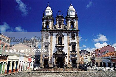 Catedral de Sao Pedro dos Clerigos, a Portuguese colonial baroque church, Recife, Per. Brazil, South America