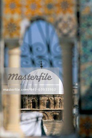 Vue depuis la terrasse de la Palais d'Orient, Médina, patrimoine mondial de l'UNESCO, Tunis, Tunisie, Afrique du Nord, Afrique
