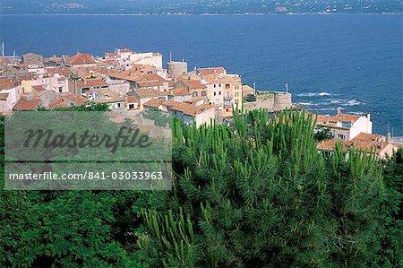 Vieille ville à partir de la Citadelle, Presqu'ile de Saint Tropez, Var, Côte d'Azur, Provence, Côte d'Azur, France, Méditerranée, Europe