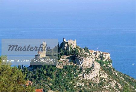 Eze, hill village perched like an eagle's nest, Alpes Maritimes, Cote d'Azur, Provence, France, Mediterranean, Europe