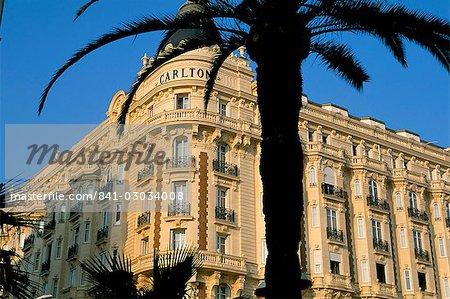 Hôtel Carlton, Boulevard de la Croisette, Cannes, Alpes-Maritimes, Côte d'Azur, Provence, France, Europe