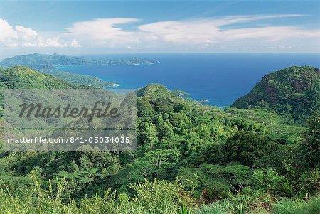 Les Hauts de Grand Anse, côte ouest, île de Mahé, Seychelles, océan Indien, Afrique