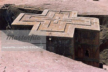 Rock-hewn Christian church of Bieta Ghiorghis (St. George's),Lalibela,UNESCO World Heritage Site,Wollo region,Ethiopia,Africa