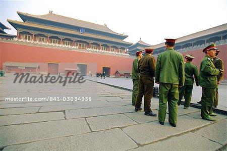 Soldats à la cité interdite, Pékin, Chine