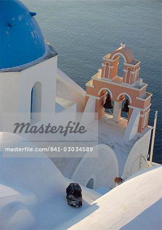 Église, Thira (Fira), Santorini, Iles Cyclades, Grèce, Europe