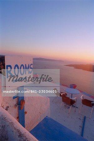 Thira (Fira), Santorini, Iles Cyclades, Grèce, Europe