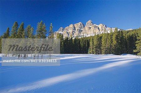 Castle Mountain, montagnes Rocheuses, en Alberta, Canada