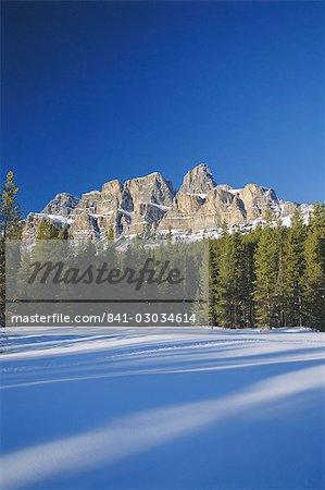 Castle Mountain,Rocky Mountains,Alberta,Canada