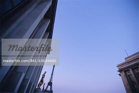 Trocadéro et la tour Eiffel, Paris, France, Europe