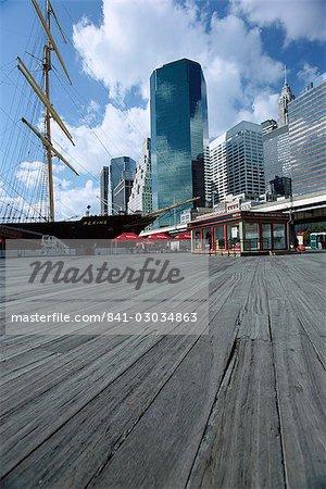 Port maritime de South Street, New York City, New York, États-Unis d'Amérique, Amérique du Nord