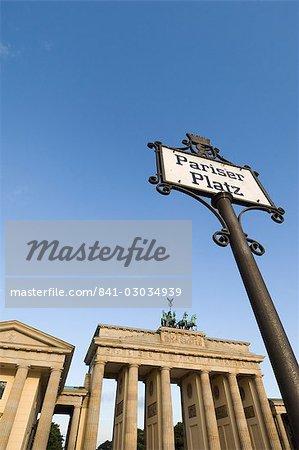 Pariser Platz, la porte de Brandebourg, Berlin