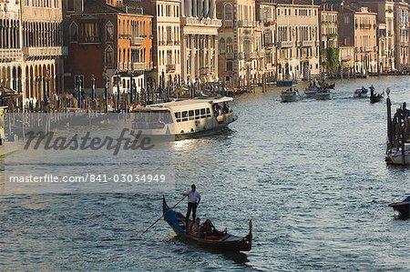 Soir, Grand Canal, Venise, Italie