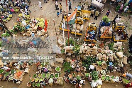 Über dem Markt in Trivandrum, Kerala, Indien