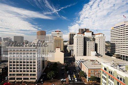 Vue sur Downtown, Los Angeles, Californie, États-Unis d'Amérique, l'Amérique du Nord