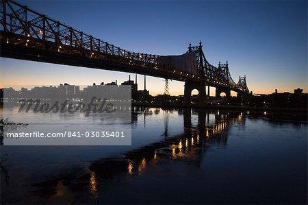 Queensboro Bridge, Manhattan, New York, États-Unis d'Amérique, l'Amérique du Nord