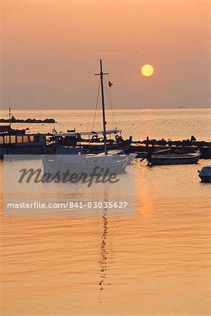Coucher du soleil, Corfu, Grèce