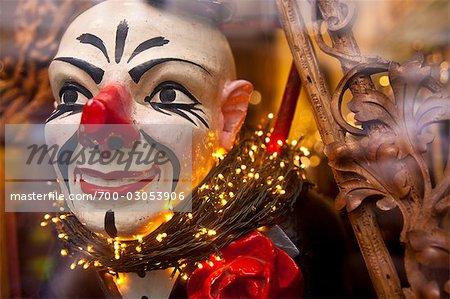 Clown in a Window Display, Brussels, Belgium