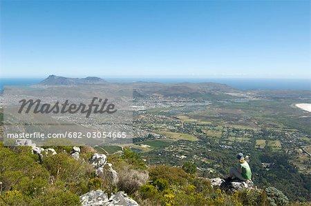 Tourisme au Parc National de Silvermine, Cape Town, Province du Western Cape, Afrique du Sud