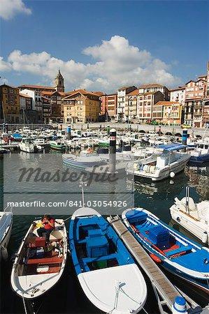 Port de la vieille ville, Bermeo, Pays Basque, pays basque, Espagne, Europe
