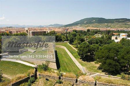 XVIe siècle de vieux murs de la ville, Pampelune, Navarre, pays basque, Espagne, Europe