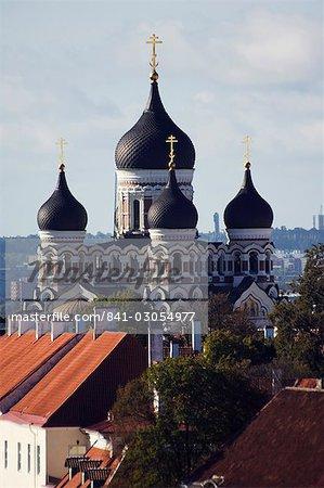 La cathédrale orthodoxe russe Alexandre Nevski de XIXe siècle Toompea, vieille ville, patrimoine mondial de l'UNESCO, Tallinn, Estonie, Etats baltes, l'Europe