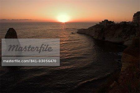 Sunset, Pigeon rocks (Rawcheh rocks), Beirut, Lebanon, Middle East