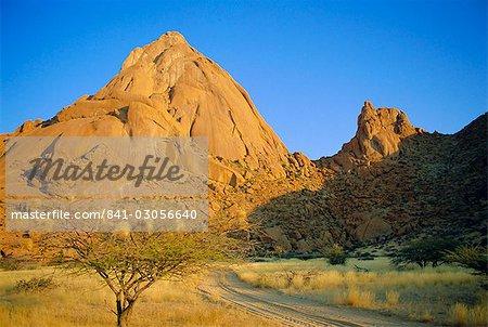 Spitzkoppe, le Cervin, de l'Afrique, Namibie