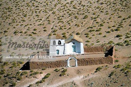 Small church near El Tatio geysers, Atacama desert, Chile, South America