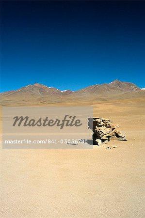 Wind eroded rock, Salar de Uyuni, Uyuni, Bolivia, South America